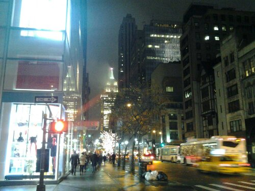Night Fifth Ave 47 Street Free Photo Image CopyLeft Public Domain 47 Street