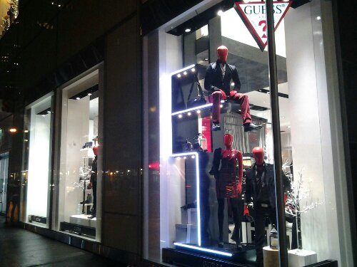 Guess Shop Window Night Fifth Ave 47 Street Free Photo Image CopyLeft Public Domain 47 Street