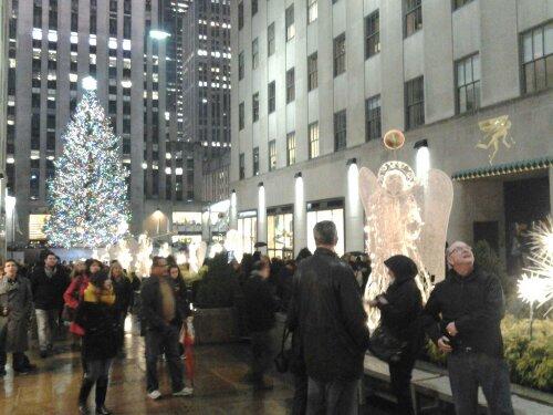 Rockefeller Plaza Promenade Manhattan New York Xmas Tree