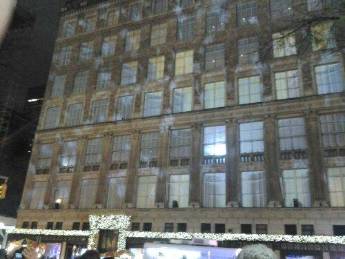 Rockefeller Plaza Promenade Manhattan New York Light Show 3D