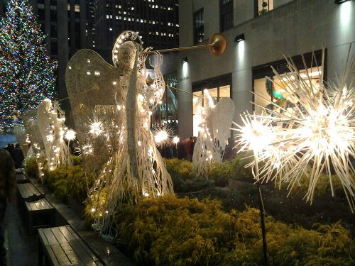 Rockefeller Plaza Promenade Manhattan New York Good Angel
