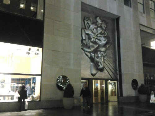 Free Domain Photo Manhattan New York Xmas Rockofeller Plaza Center Barelief